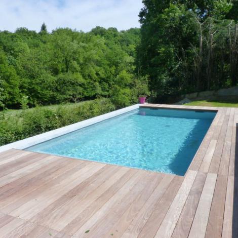 Plan d 39 eau designer piscines terrasses bois - Piscine pvc arme gris clair ...